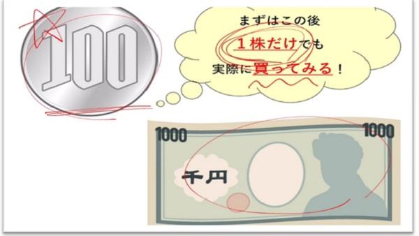 100円投資の講座